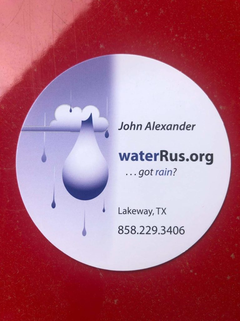 waterrus.org circular bus card - graphic design