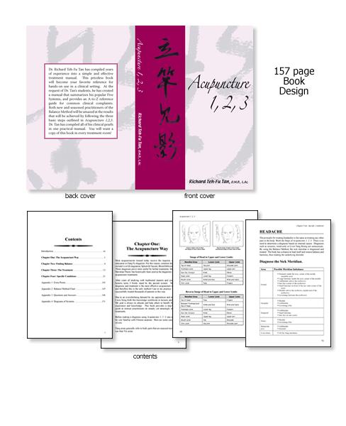 Acupuncture 1,2,3 - book design