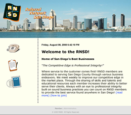 RNSD website - web design